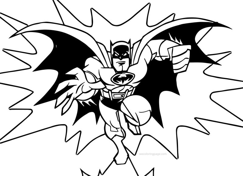 Coming Batman Punch Coloring Page
