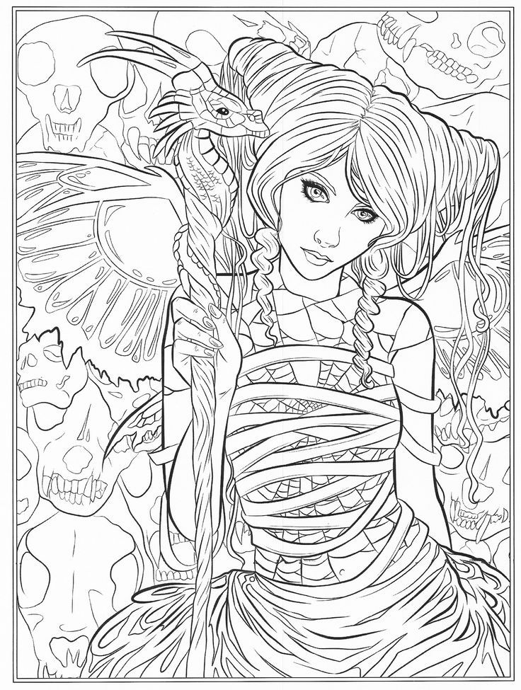Cool Fairy Coloring Pages