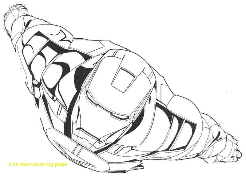 Cool Flying Iron Man Avengers Coloring Pages