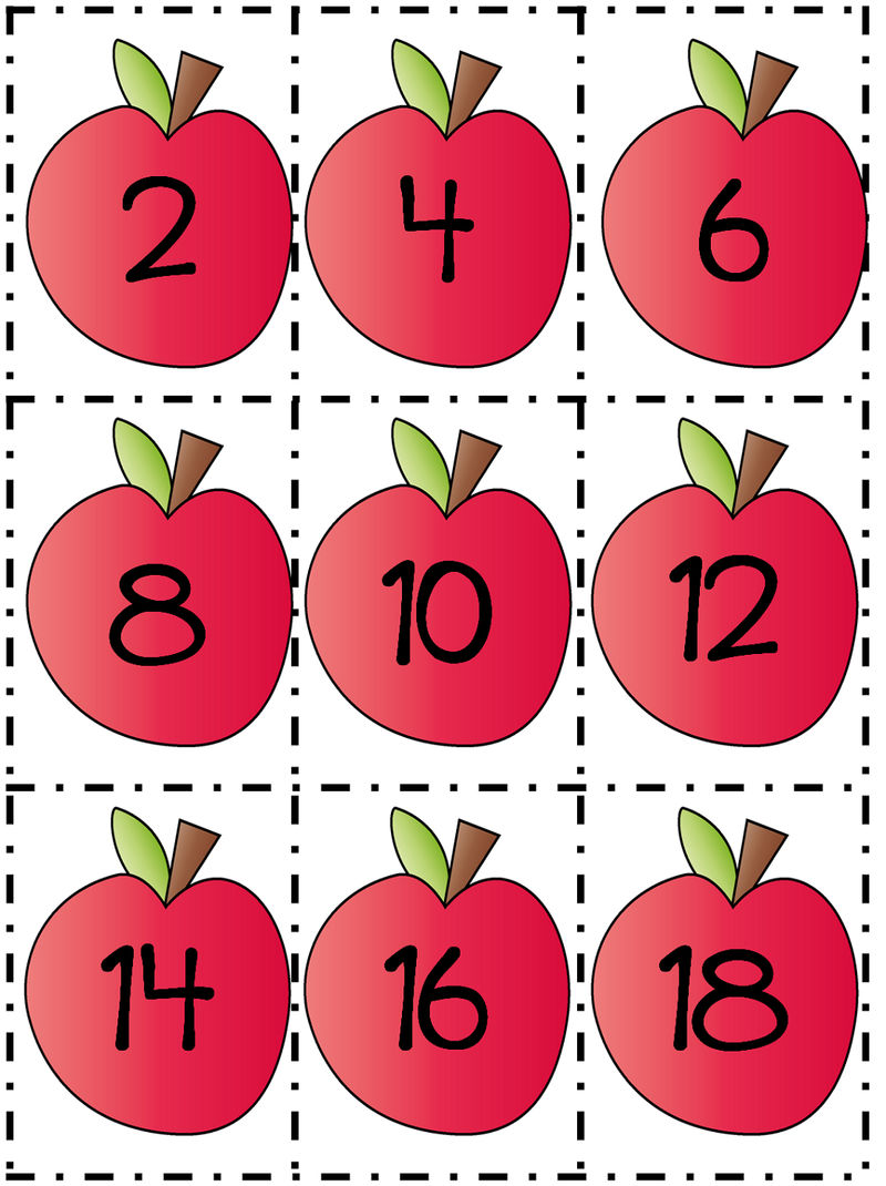 Count By 2s Worksheet Apples