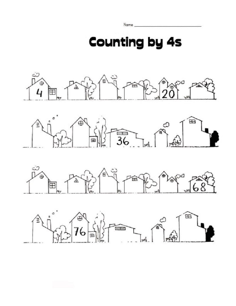 Count By 4s Page