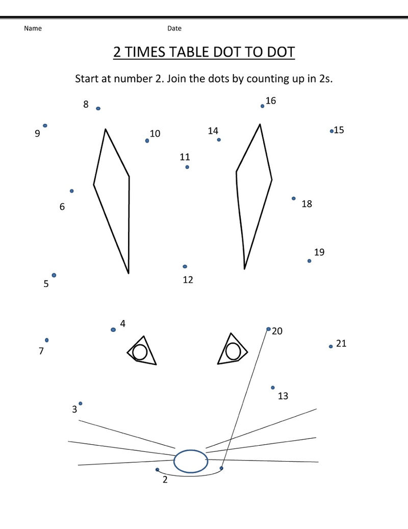 Count By Twos Worksheet Dot To Dot