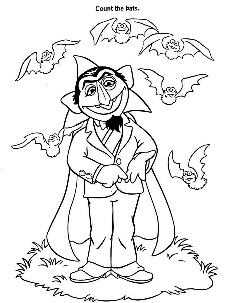 Count Sesame Street Coloring Pages
