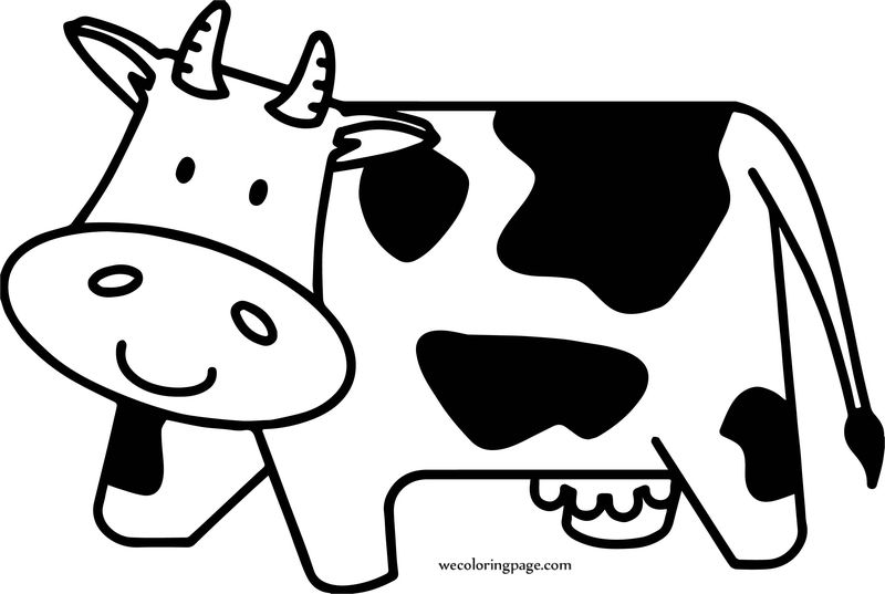 Cow For Preschool Coloring Page