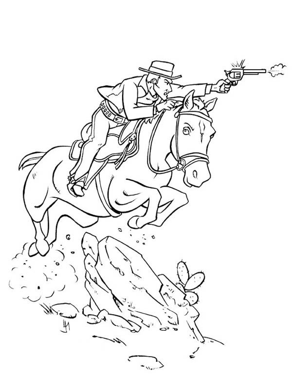 Cowyboy Horse Coloring Pages