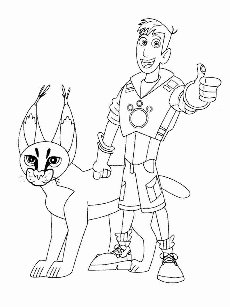 Creature Adventure Wild Kratts Coloring Pages