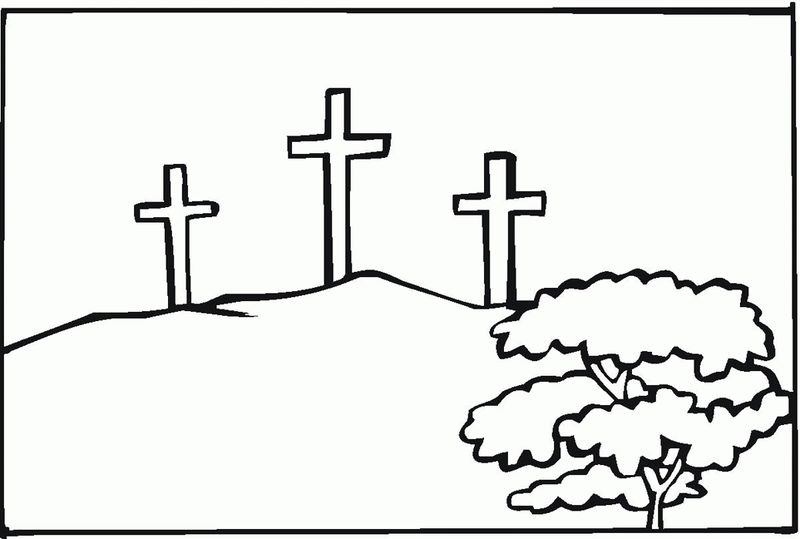 Crosses Good Friday Coloring Pages