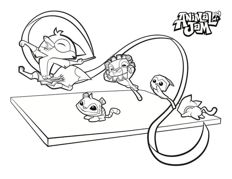 Cute Animal Jam Coloring Pages