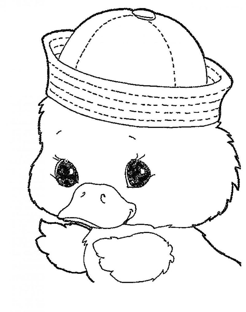 Cute Baby Animal Coloring Pages Duck