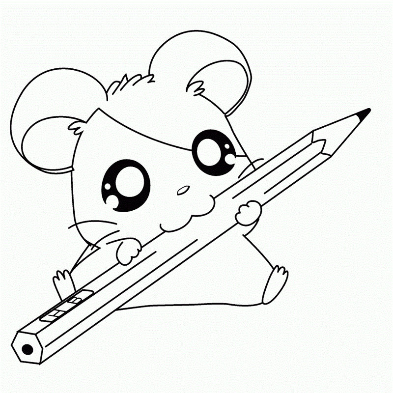 Cute Baby Animal Coloring Pages Hamster