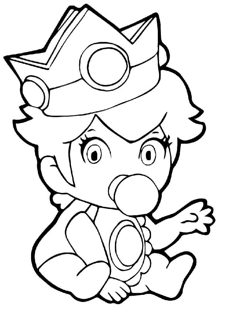 Cute Baby Princess Coloring Pages