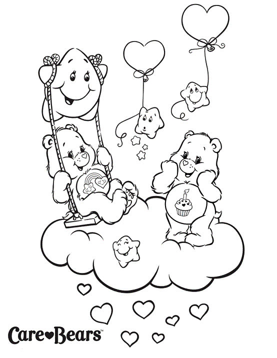 Cute Care Bears Coloring And Activity Page