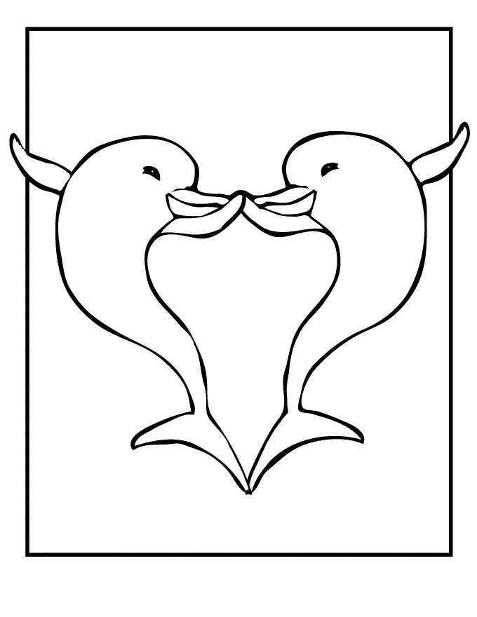 Cute Dolphin Coloring Pages