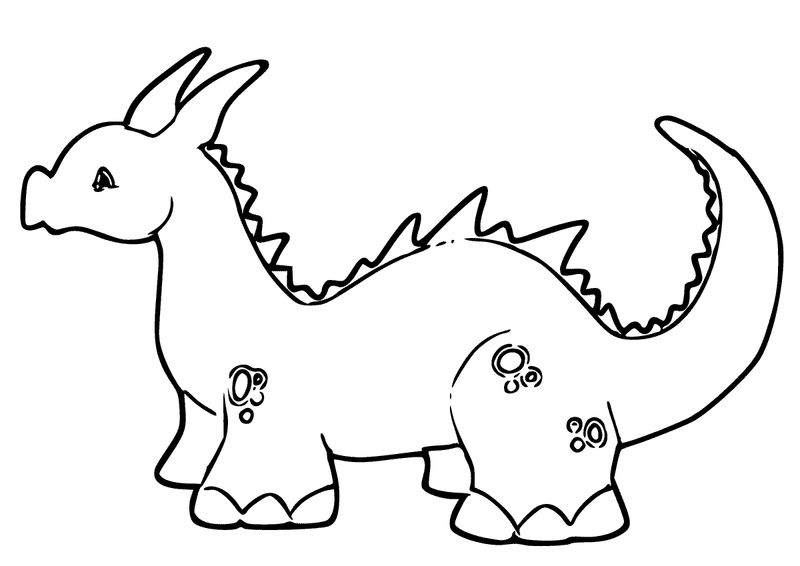 Cute Dragon Coloring Pages 001