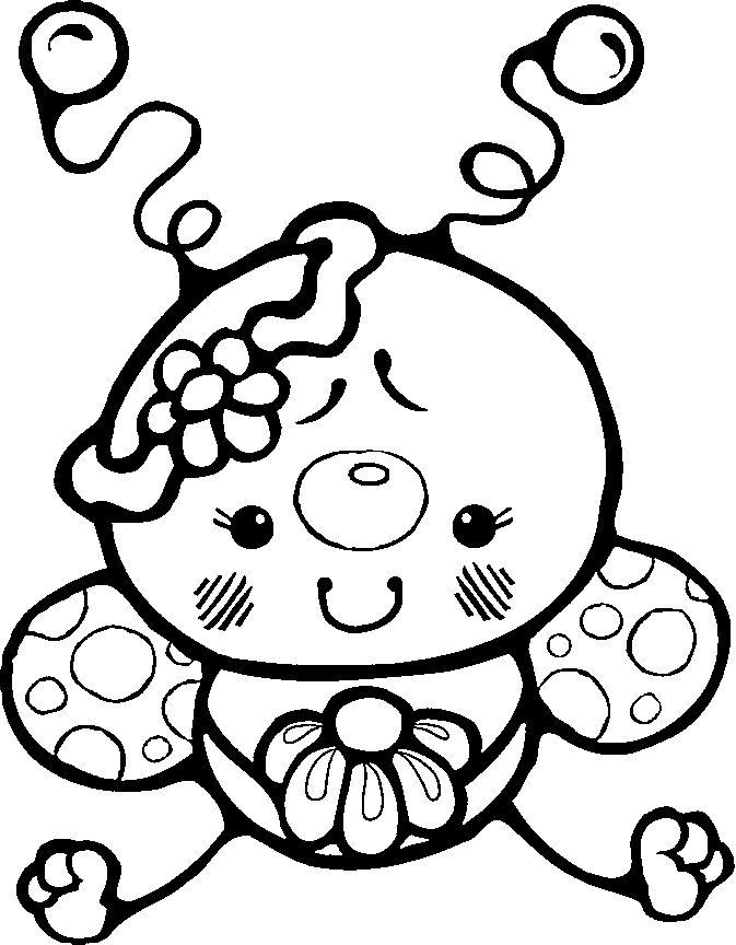 Cute Garden Bug Coloring Page