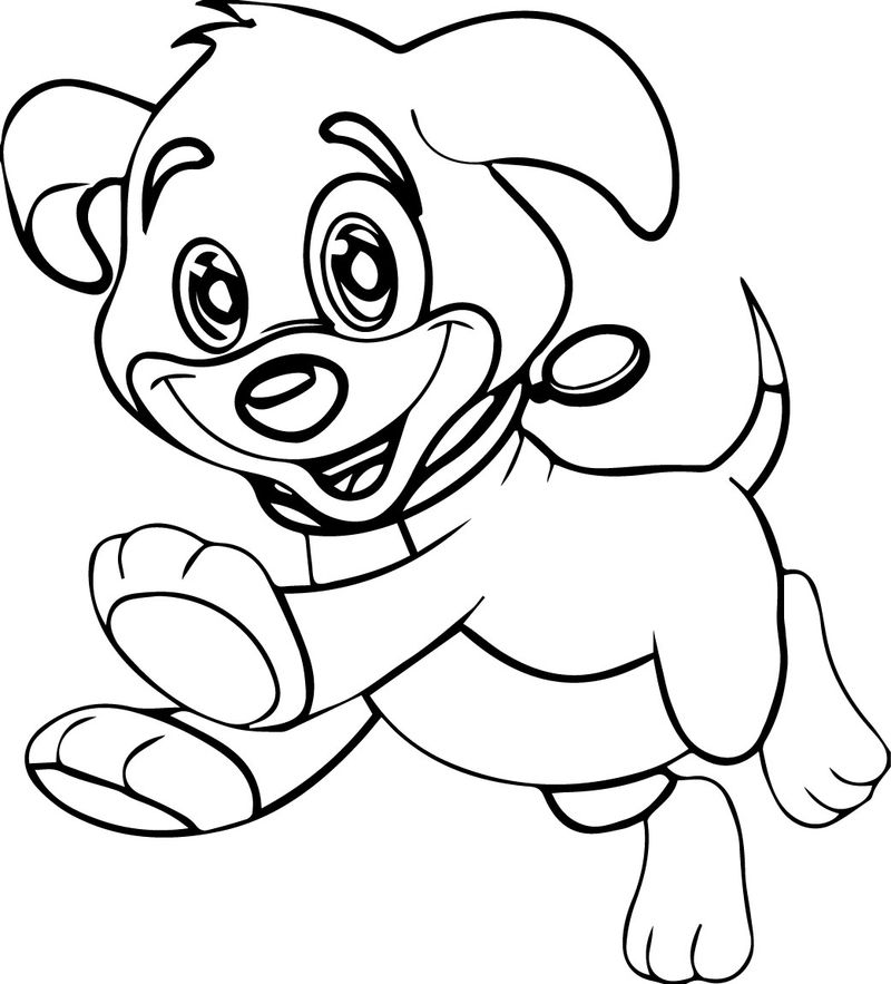 Cute Pretty Dog Coloring Page