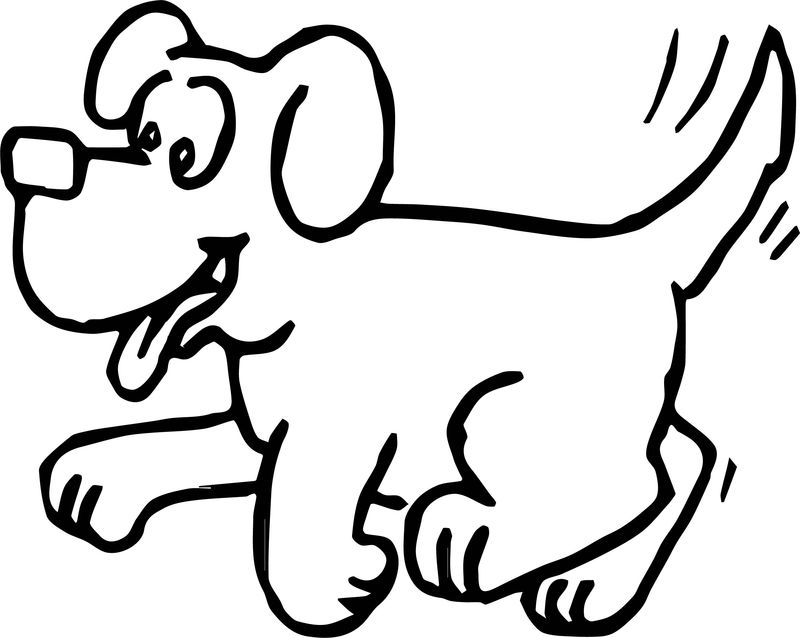 Cute Puppy Dog Sheet Coloring Page