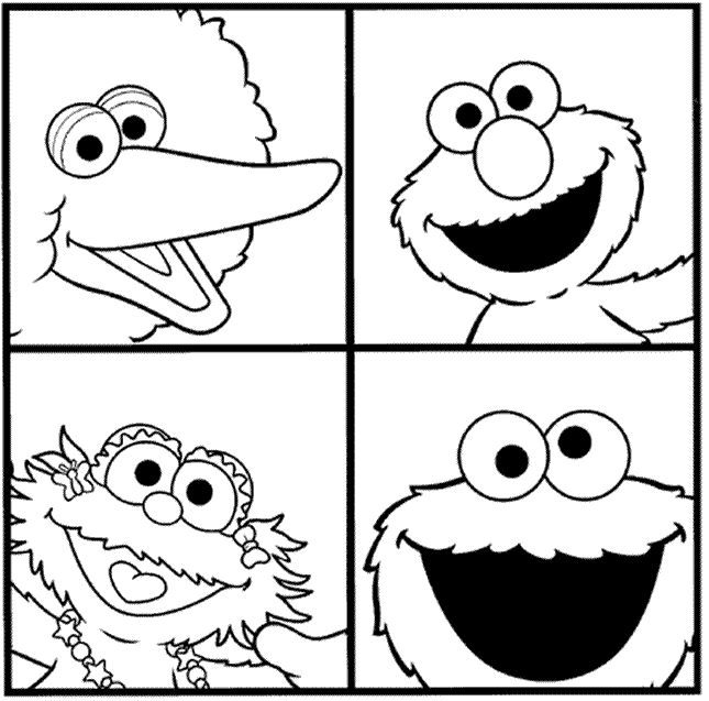 Cute Sesame Street Coloring Pages