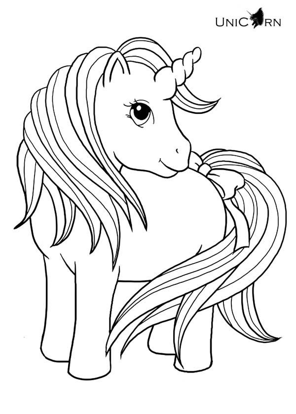 Cute Unicorn Coloring Page Printable
