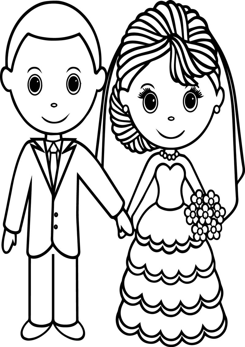 Cute Wedding Coloring Pages 001