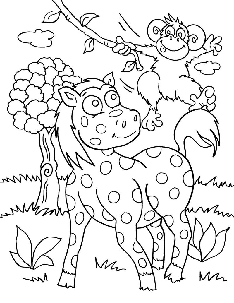 Cute Wild Animal Coloring Pages