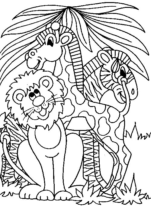 Cute Wild Animal Coloring Pages 1