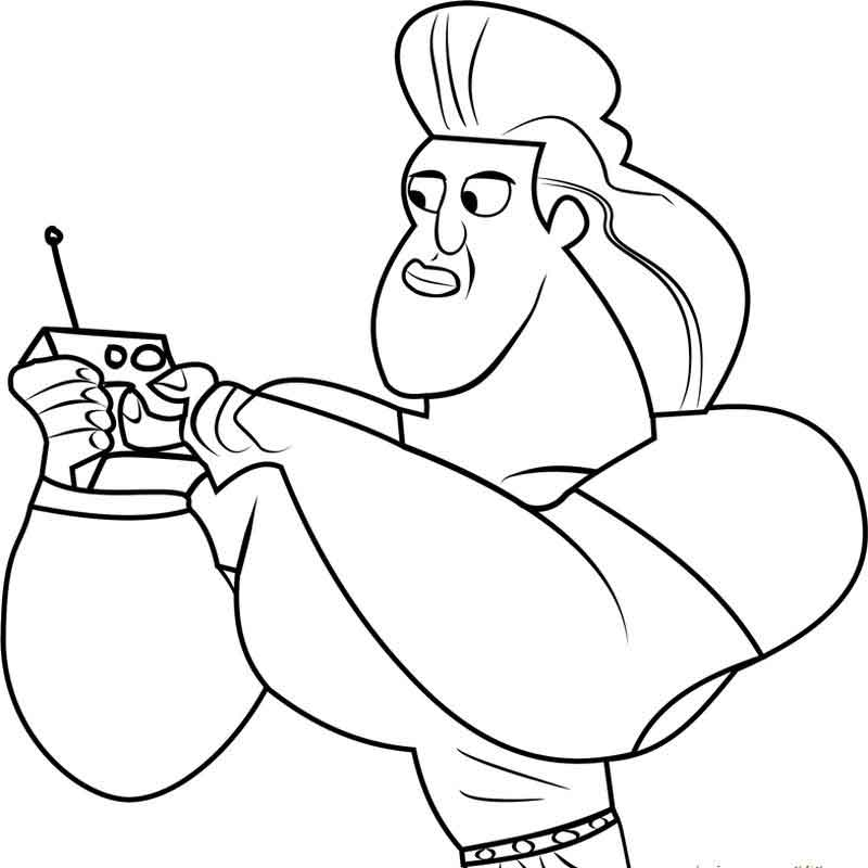Dabio Wild Kratts Coloring Pages