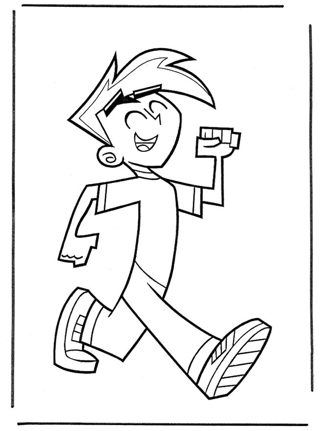 Danny Phantom Coloring Pages Pictures