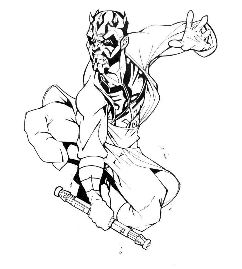 Darth Maul Coloring Page Activity