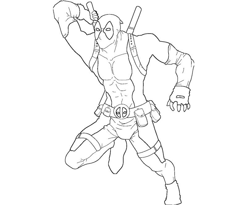 Deadpool Super Anti Hero Coloring Page