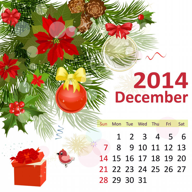 December 2013 January 2014 Calendar With Holidays 001