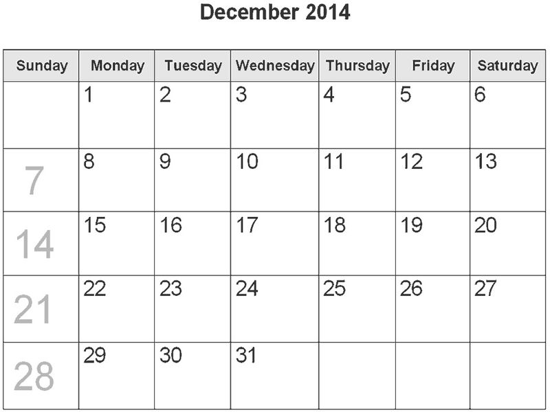 December 2014 Calendar With Holidays 3 001