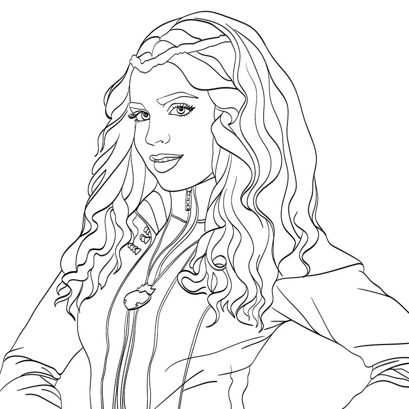 Descendants Coloring Pages Audrey