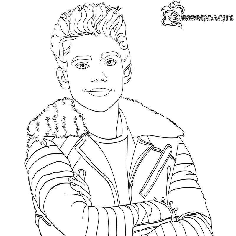 image about Descendants Coloring Pages Printable named Descendants Coloring Internet pages Carlos No cost COLORING Internet pages