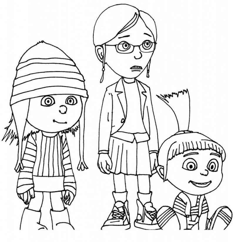Despicable Me Coloring Pages For Kids