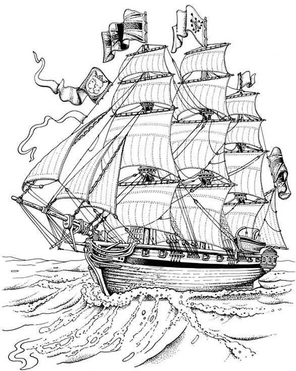 Detailed Mayflower Coloring Page