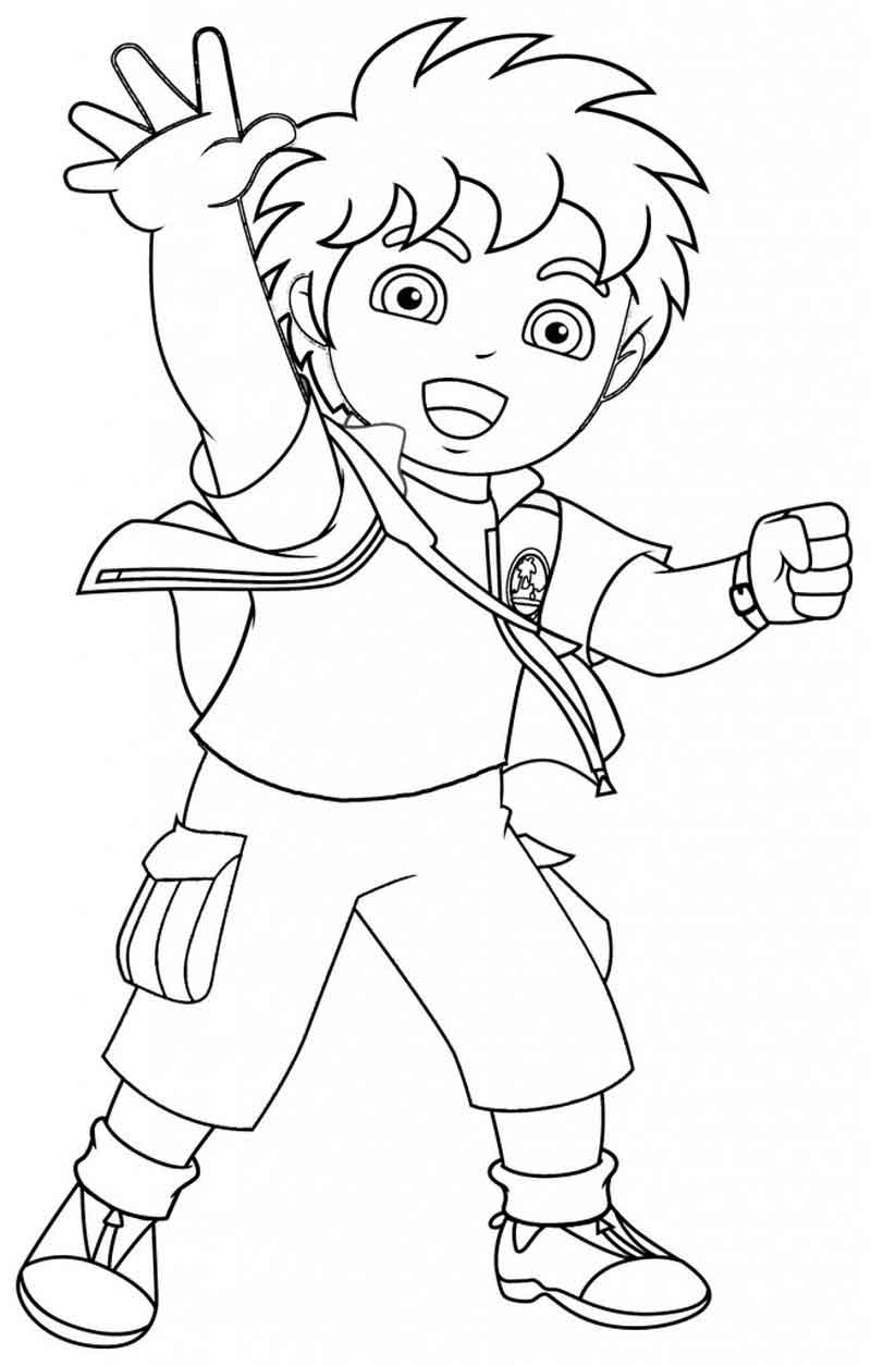 Diego Coloring Pages Printable