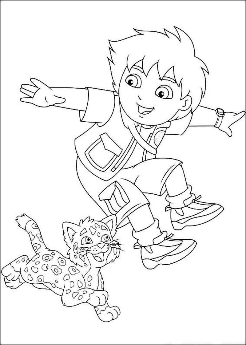 Diego Printable Coloring Pages