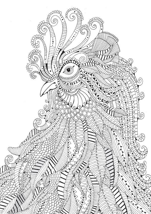 Difficult Coloring Pages Animals