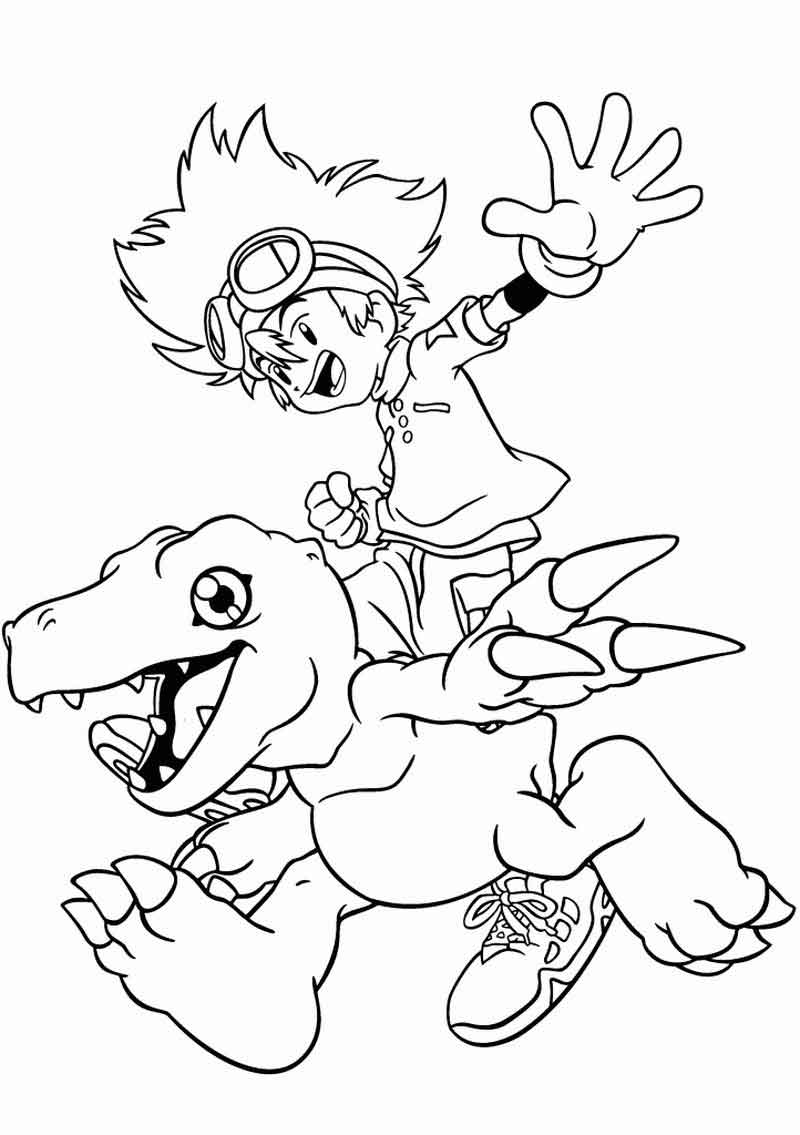 Digimon Coloring Pages To Print