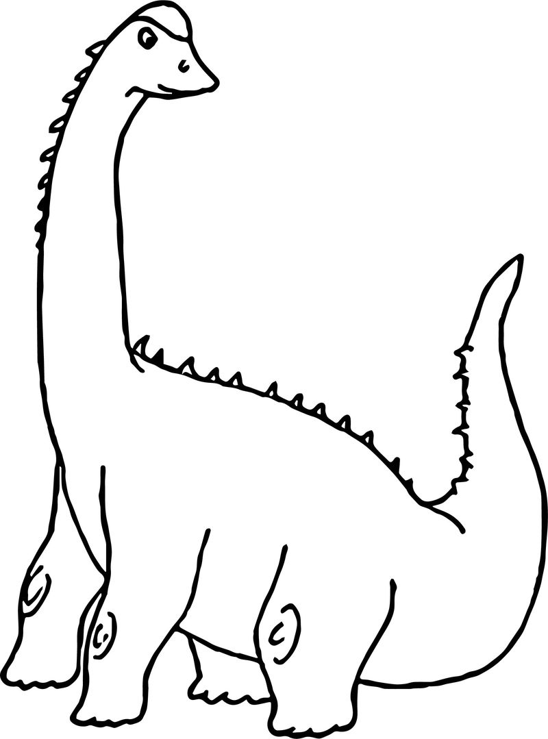 Dinosaur Clipart Sauropod Coloring Page