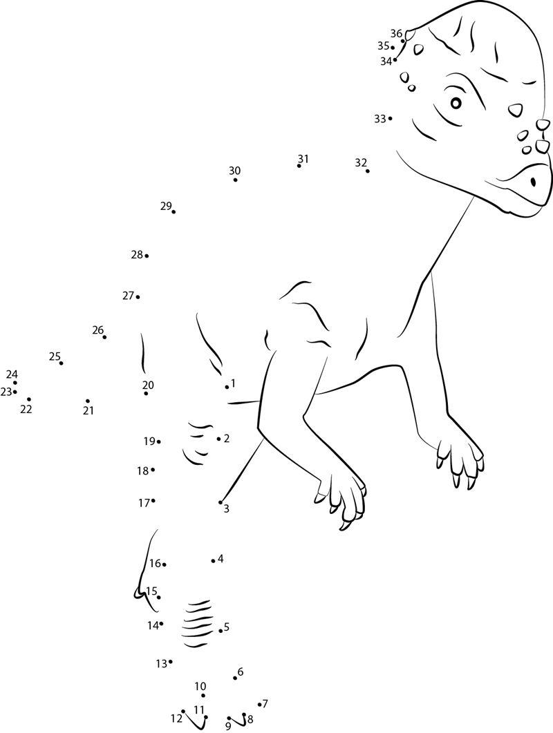 Dinosaur dot to dot pictures printable