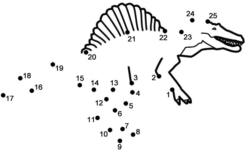 Dinosaur Dot To Dot Tracing Number