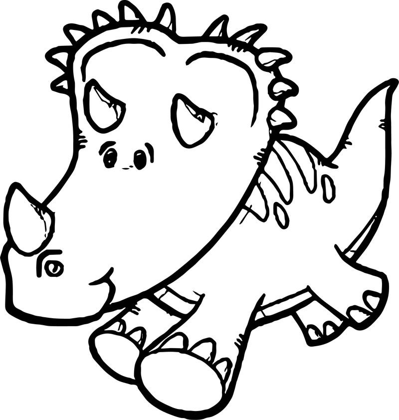 Dinosaur Run Coloring Page