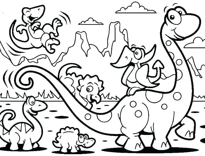 Dinosaurs Animal Coloring Pages