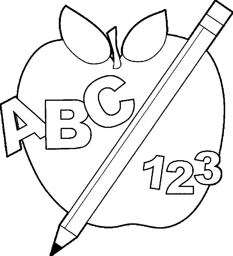 Discover Back To School Apple Images Coloring Page Abc 123
