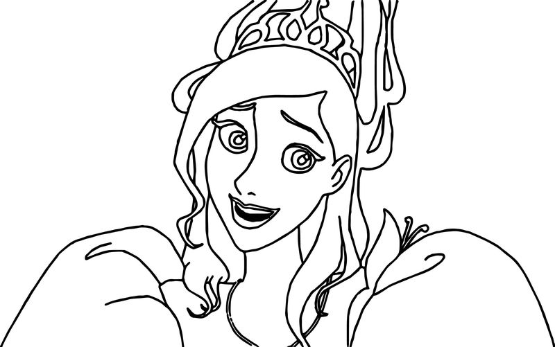 Disney Enchanted Princess Surprised Coloring Pages