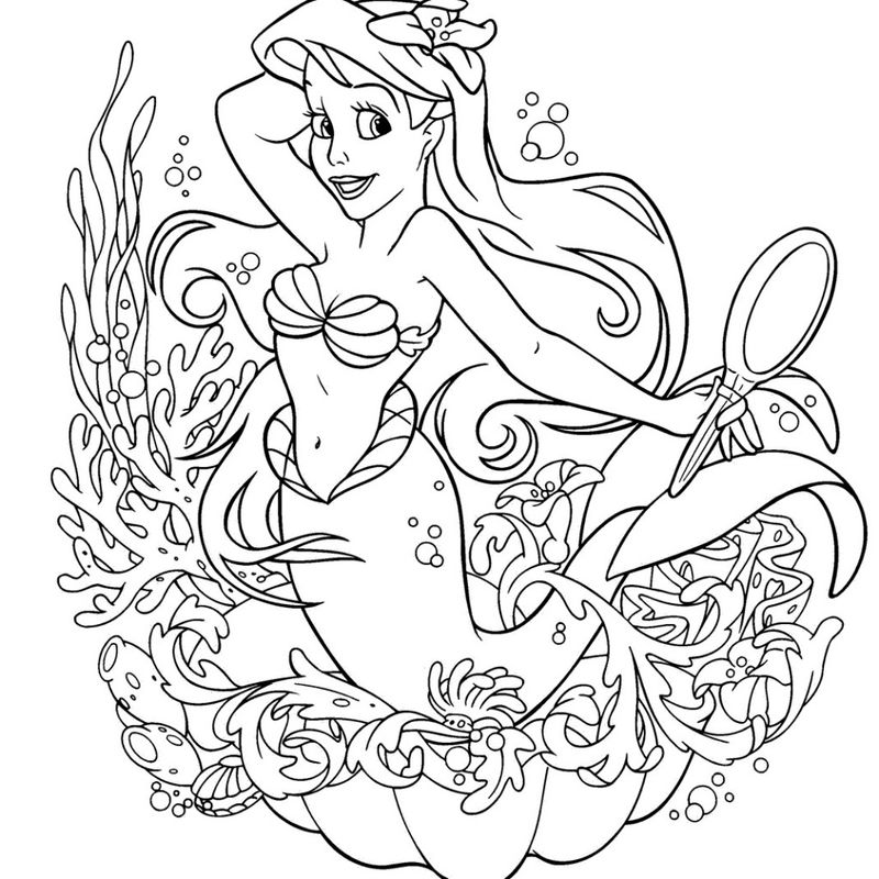 Disney Princess Coloring Pages Arial
