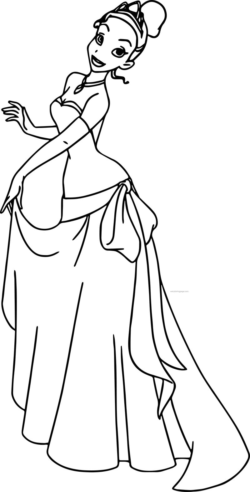 Disney The Princess And The Frog Pose Coloring Page