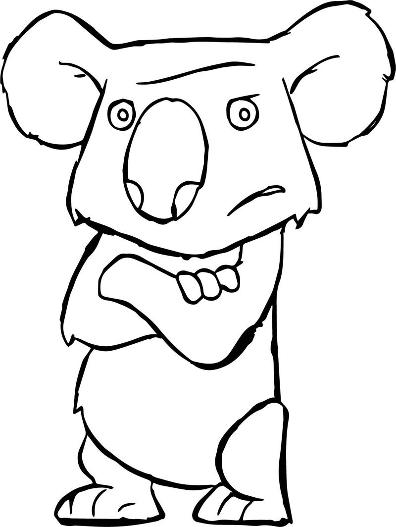 Disney The Wild Animal Koala Angry Staying Coloring Pages